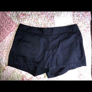 navy j crew shorts
